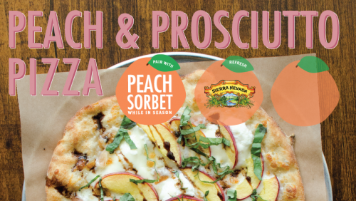 Our Newest Craft Series – Peach & Prosciutto Pizza