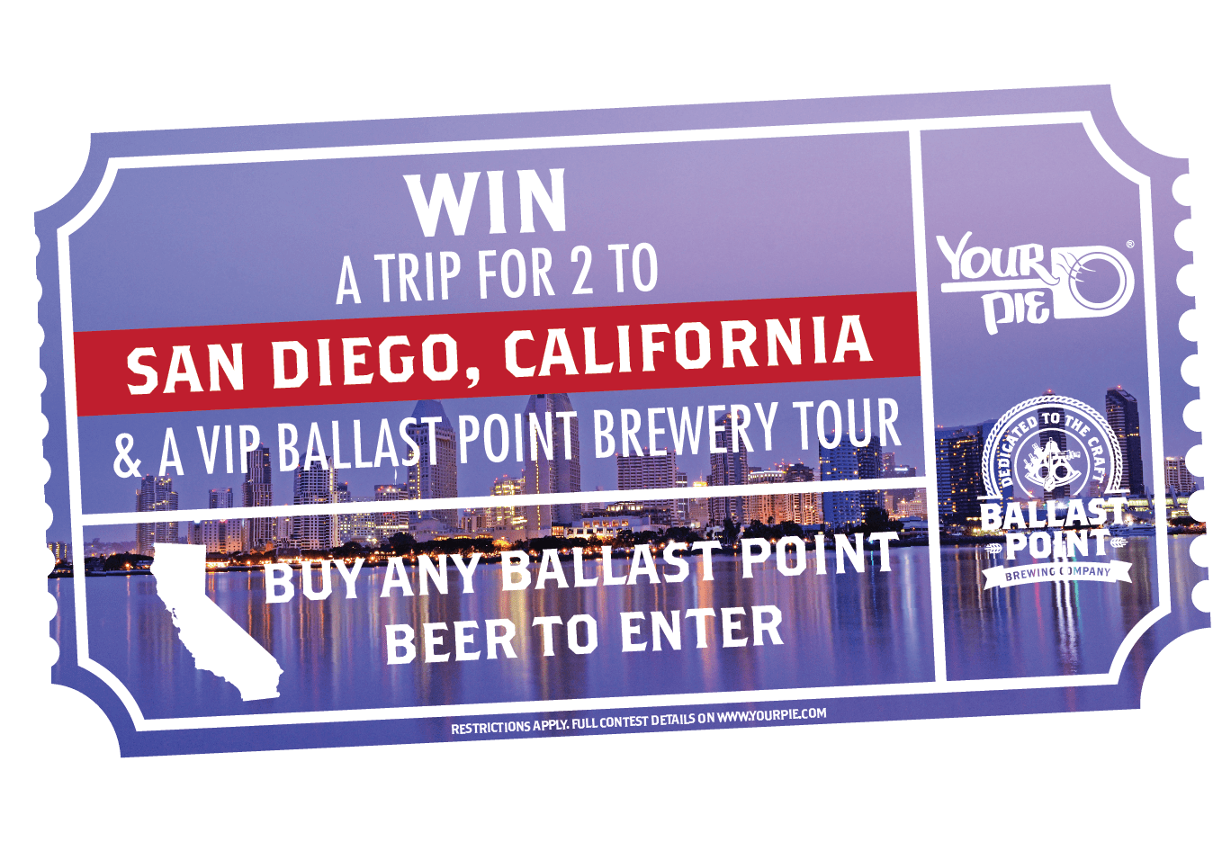 Win a Trip to San Diego with Your Pie & Ballast Point!